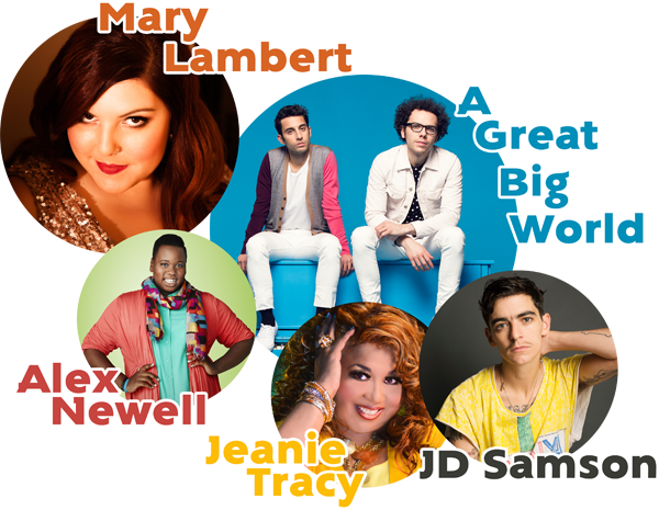 Boston Pride 2014 with Mary Lambert, A Great Big World, Alex Newell, JD Samson and Jeanie Tracy