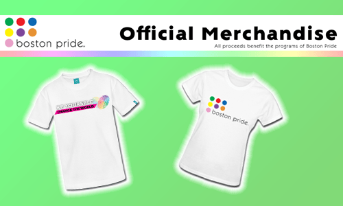 Official Boston Pride merchandise
