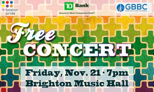Free Concert on November 21st