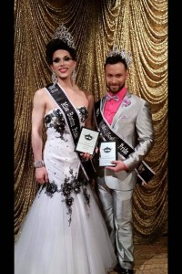 Jay Cardin IV (right) and Ellie Monae (left), respectively Mr & Miss Boston Pride 2015