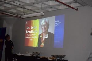 2017 Boston Pride Honorary Marshal Dr. Judy Bradford
