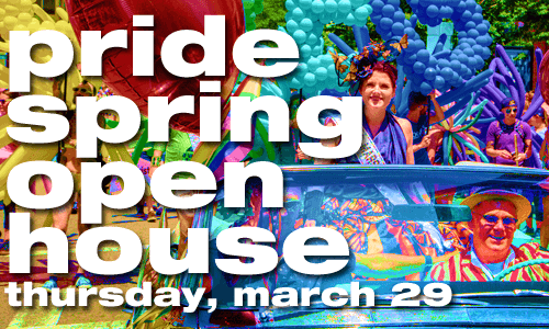 2018 Pride Spring Open House on March 29