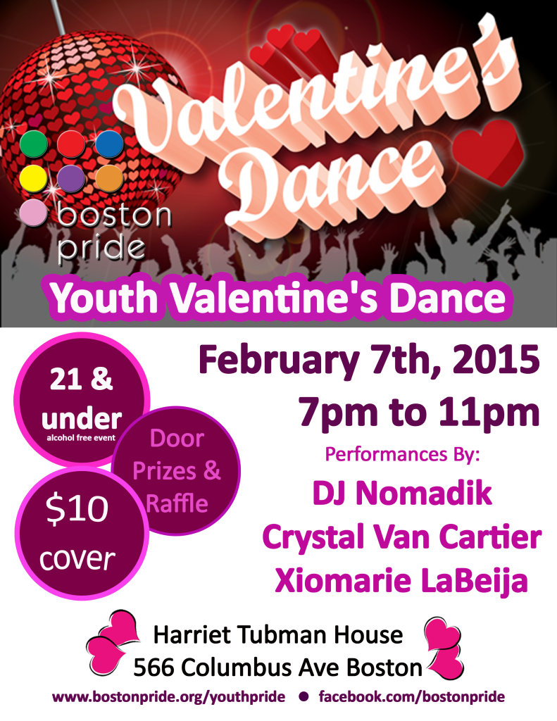 2015 Youth Valentine's Dance poster