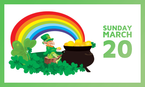 Join us in the St Patrick's Day Parade on March 20