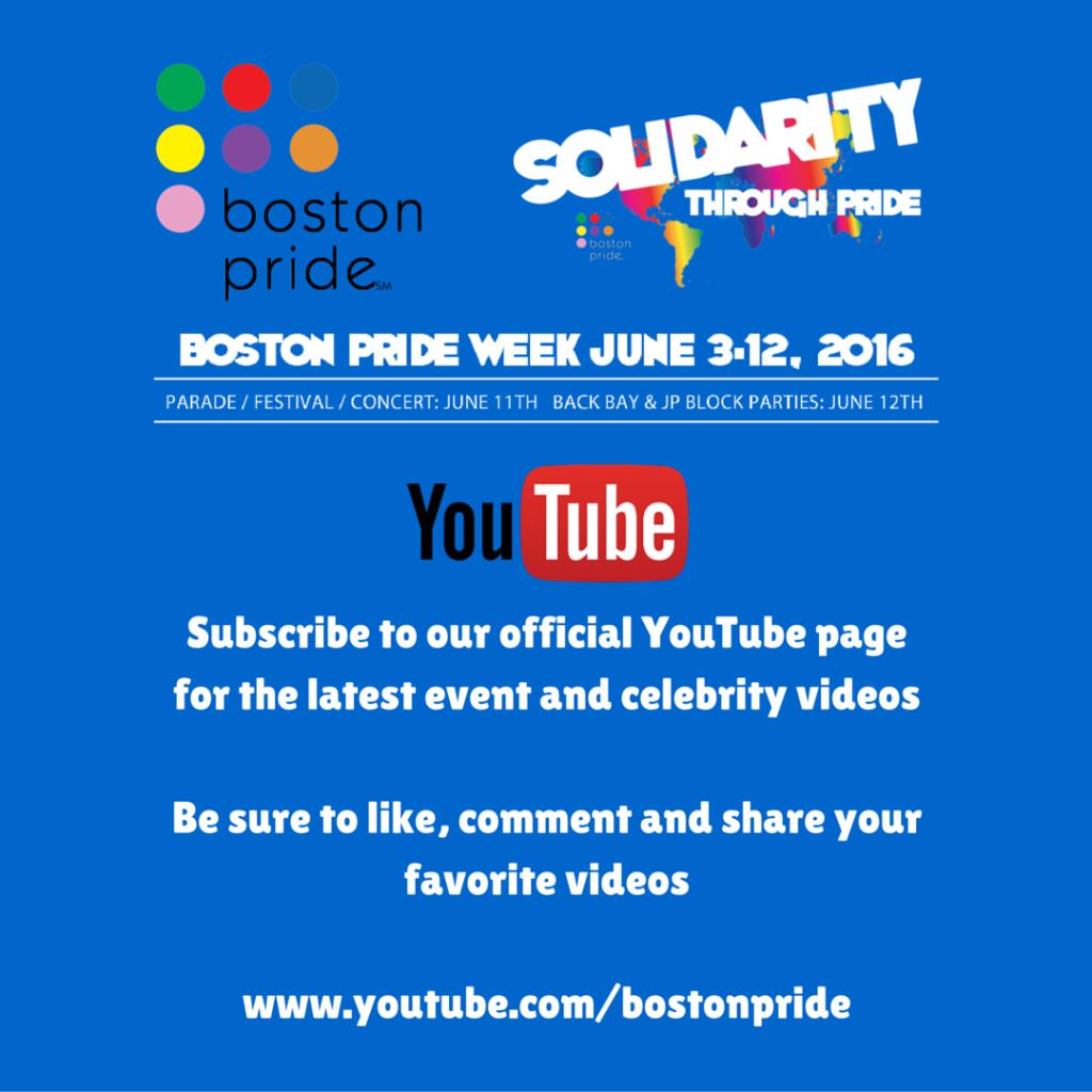 Boston Pride Youtube Channel